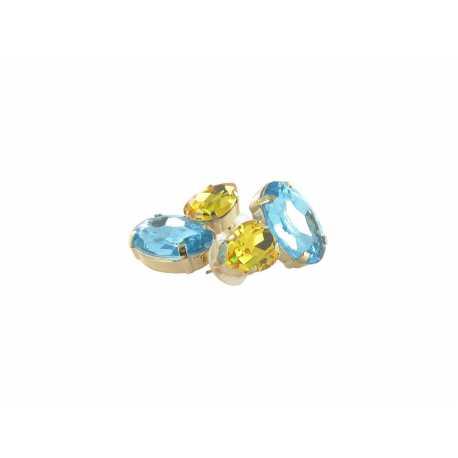 Boucles D'Oreilles Fantaisie Cristal