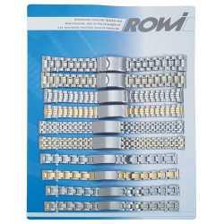 Carte 10 Bracelets fermoirs Bicolor 12 à 22mm Rowi 309901