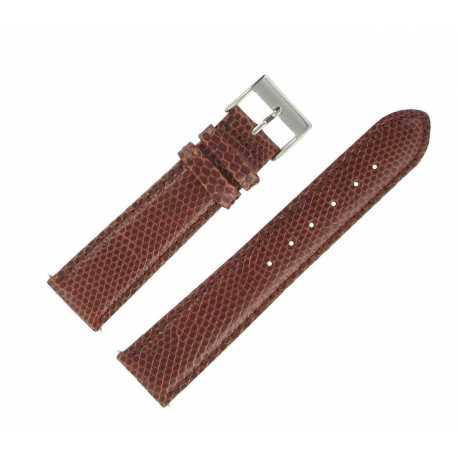 Montre Véritable En De À 20 Bracelet Mm 10 Gold Lézard N0wnvm8