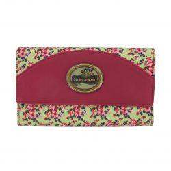 Portefeuille pour femme Lili Petrol 20x11.5cm