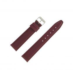 Bracelet montre Bordeaux Largeurs de 12 à 22mm en cuir de veau Valencia EcoCuir®