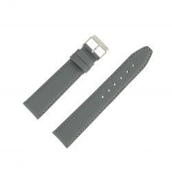 Bracelet montre Gris Largeurs de 12-14-18 et 20mm en cuir de veau Valencia EcoCuir®