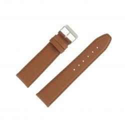 Bracelet montre Marron doré Largeurs de 12 à 24mm en cuir de veau Valencia EcoCuir®