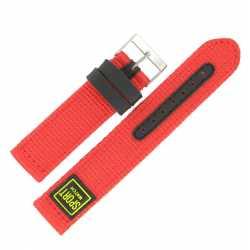 Bracelet de montre Rouge largeurs de 18 et 20mm Sport Watch
