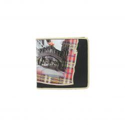 Portefeuille synthétique Royaume-Uni deux volets 11x10.5cm