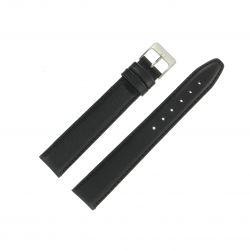 Bracelet montre Long 12 à 24mm Noir Cuir de veau Valencia EcoCuir® Artisanal