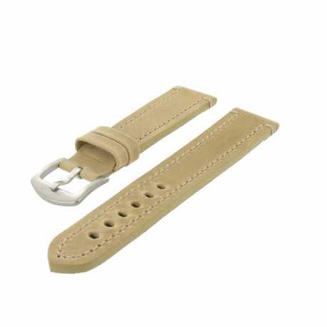 Bracelet montre Beige de 20 à 30mm en Cuir Vintage Arizona EcoCuir® Artisanal
