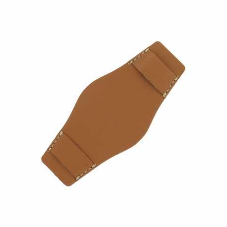 Plaque de protection Bund Marron doré pour bracelet de 20 à 24mm Ecocuir® Artisanal