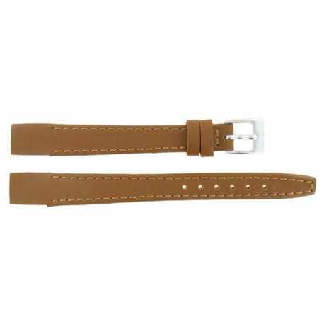 Bracelet pour montre à anses soudées en Cuir Marron Doré de Vachette 8-10-12MM