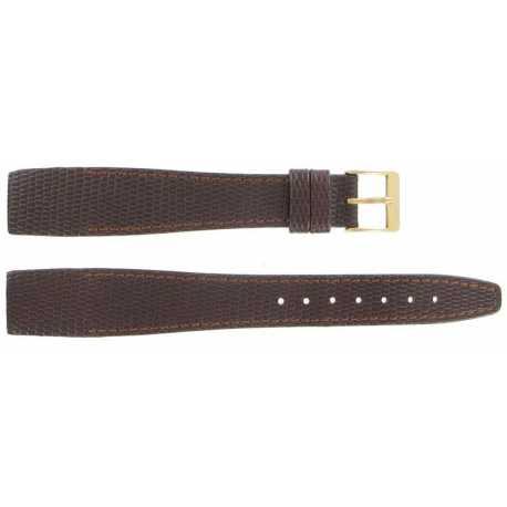 Bracelet à coller pour montre à anses fixes 10-18 et 20mm en Cuir Marron de vachette gaufré Lézard