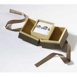 Écrin à fente pour Alliances-B.O-Manchettes-Créoles en carton 65x65x25mm Loft 0920014