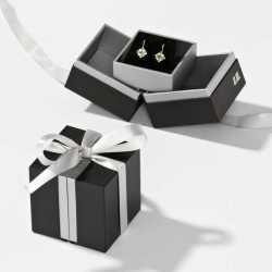 Écrin pour Boucles d'oreilles en carton 65x65x25mm Loft 0920062