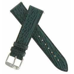 Bracelet de montre en Requin Véritable Vert Largueurs 18 et 20mm